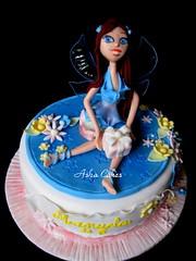 Happy Birthday Manuela! (Sucre Coeur) Tags: cake bloom marzipan fondant gumpaste winx sugarpaste