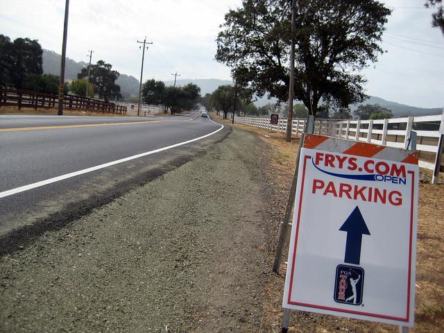 PGA Tour parking on Watsonville Rd.