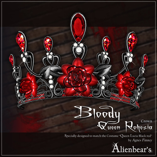 Bloody Queen rohesia crown (Dark red)