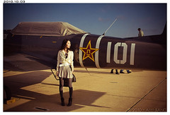 (Alli Jiang) Tags: portrait sky sunlight color face sunglasses fashion plane airplane daylight photo clothing day post sandiego outdoor chinese style airshow 101 blackhair miramar edit asiangirl lightroom mcas yellowandblue chinesegirl 937 autume verylonghair allijiang