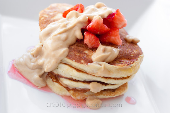 Lemon Ricotta Pancakes with PB