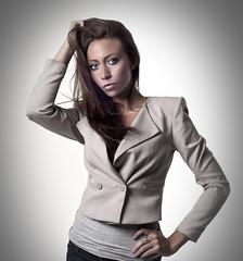 Melissa (tibi wagner) Tags: light portrait woman girl face female pose hair studio 50mm model eyes feminine melissa retouch strobist nikond300 studiobin stunningphotogpin
