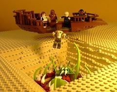 Say aaarrrggghh (Legoagogo) Tags: starwars lego skiff chewie hansolo returnofthejedi lando jarjarbinks moc sarlac