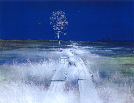 未だ青き道■牧野 環 日本画展■
