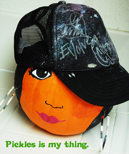 snooki pumpkin with hat