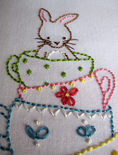 Bunny and her Teacups Embroidery