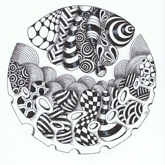 Lazing on a sunny afternoon (Jo in NZ) Tags: pen ink drawing line zentangle nzjo