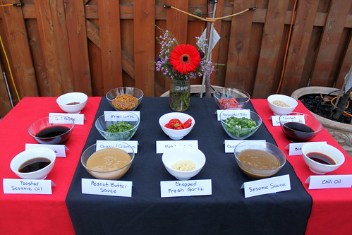dipping sauce table