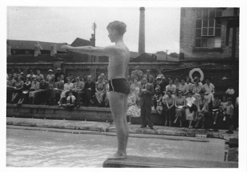 Stamford School swimming gala around 1953