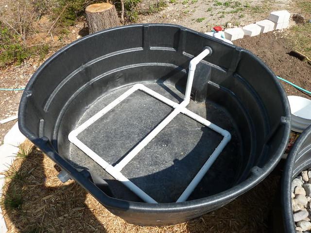 Blue Stock Tank Pool
