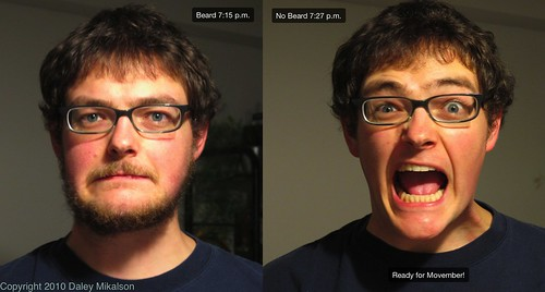 Side by side (Beard then no beard)