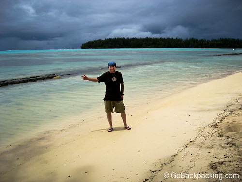 After: At the beach on Moorea, French Polynesia