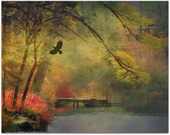 ....the last days of autumn.... (xandram) Tags: autumn lake photoshop boat dock textures raven mywinners theunforgettablepictures saariysqualitypictures selectbestexcellence newgoldenseal sbfmasterpiece thelittlebookoftreasures enteredinsybcontest