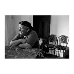 . (Emmanuel Smague) Tags: leica travel portrait people blackandwhite bw woman film 35mm photography europe grandmother report documentary mp balkans albania christians orthodoxes macedonians emmanuelsmague