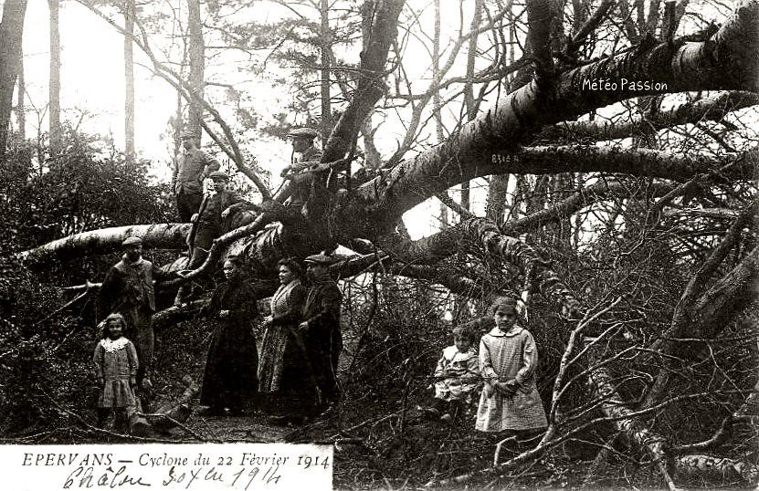 dégâts du cyclone du 22 février 1914 à Epervans