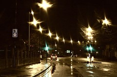 (andrewlee1967) Tags: road street uk morning england wet rain 30 reflections dark lights britain lancashire gb greenlight ashtonunderlyne speedcamera ef50mmf18 andrewlee tameside mywinners andrewlee1967 canon50d