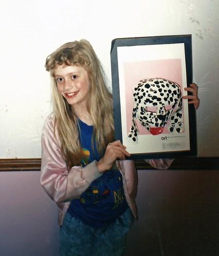 Paper Mache dog 4-1990