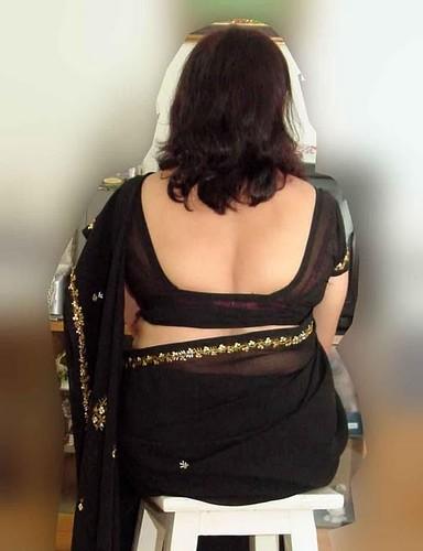 back blouse  Desi Sexy aunty