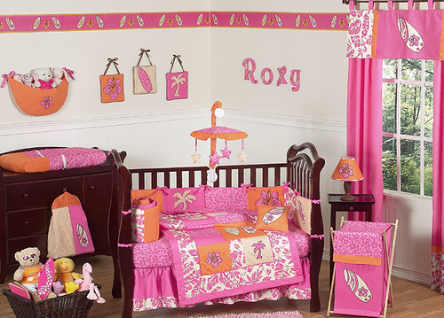 JoJo Designs Surf Pink Cribset at www.uniquelinensonline.com