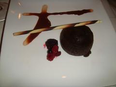 Fondant de chocolate con helado de capuchino