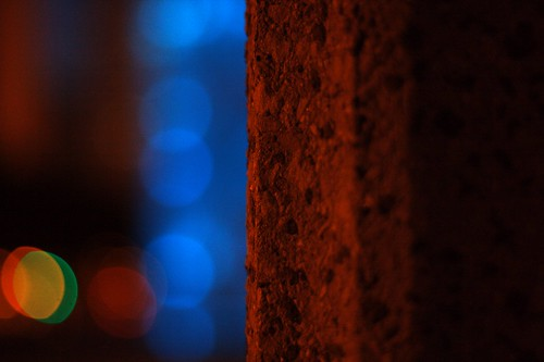 the blue bokeh