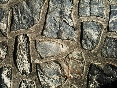 An abstract photo of stone paving.