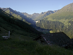 View S to Dam and to Col du Gd ST Bernard (LensScaper) Tags: climbers hauteroute valdentremont