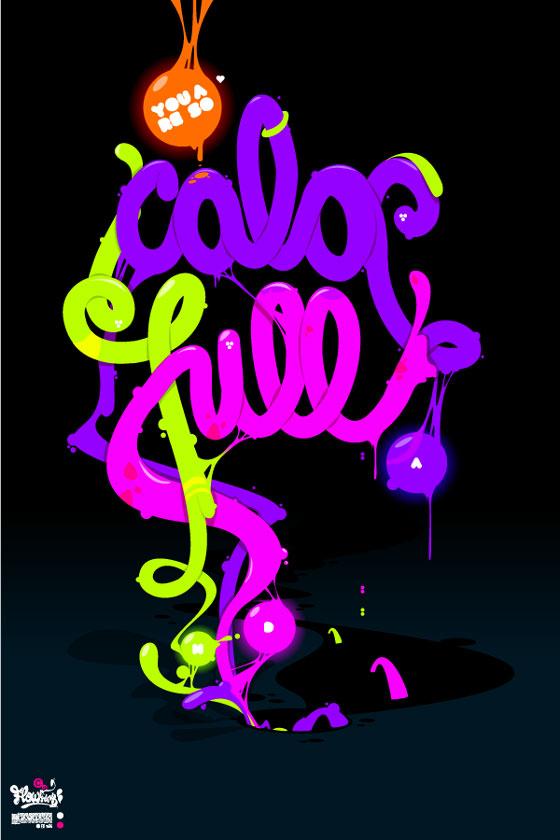 tipografía en ilustraciones