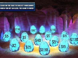 free Alien Hunter gamble bonus game