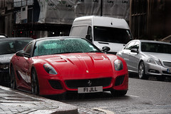 Italian Stallion sitting in British Weather. (Alex Penfold) Tags: london cars alex sports car canon photography photo cool image awesome picture fast super ferrari exotic photograph gto supercar exotica 2010 penfold 599 450d hpyer