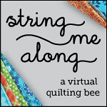 String Me Along bee button - gray