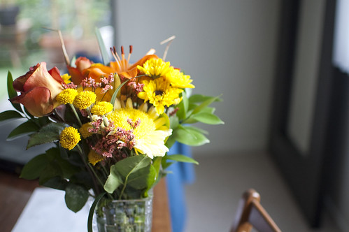 mixed bouquet for fall
