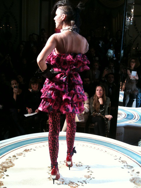 09 Pink leopard look at the Lanvin for H&M show