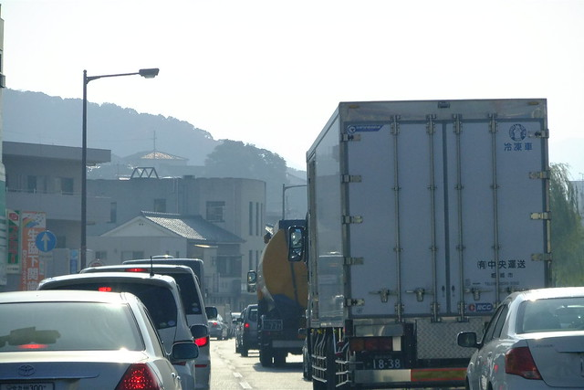 下関市内渋滞中。