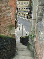 DOGLEAP STAIRS  NEWCASTLE UPON TYNE (2) (forpawsgrooming) Tags: newcastle tyne upon