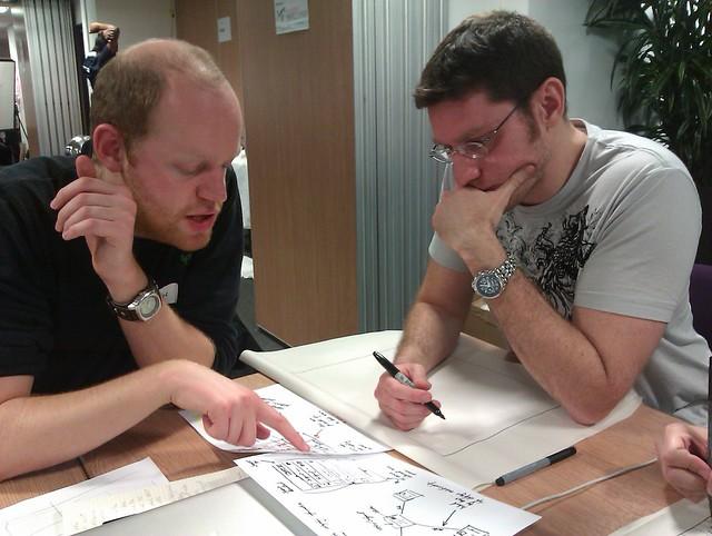 活動進行中,團員的構思模樣。