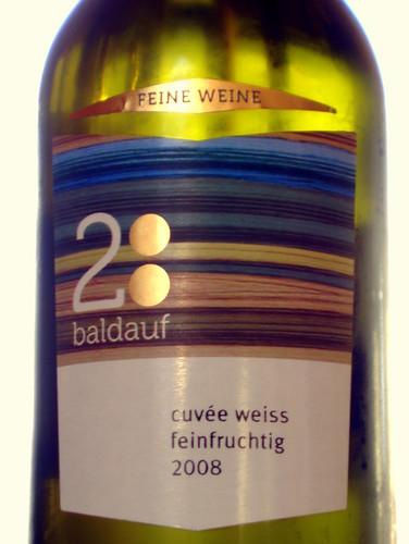 2008 Baldauf Cuvee weiss feinfruchtig