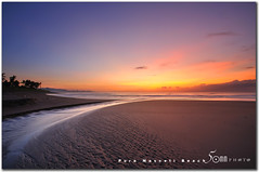 The red sunrise - Pura Masceti Beach Bali (fiftymm99) Tags: ocean morning blue red sky bali brown seascape tree beach nature sunrise indonesia darkness sands pura fiftymm nikond300 masceti fiftymm99 gettyimagessingaporeq2