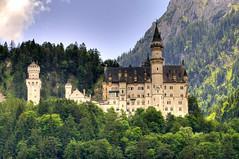 [フリー画像] 建築・建造物, 宮殿・城, ノイシュヴァンシュタイン城, ドイツ, 201011241900