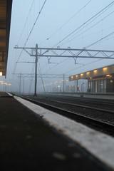 Leiden Centraal Station (gill4kleuren - 11 ml views) Tags: mist station train buildings leiden morgen centraal goede foggu
