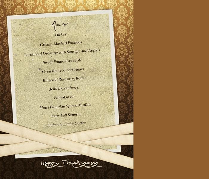 thanksgiving menu web