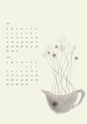 2011 calendar (illustrations and sumi ink drawings)