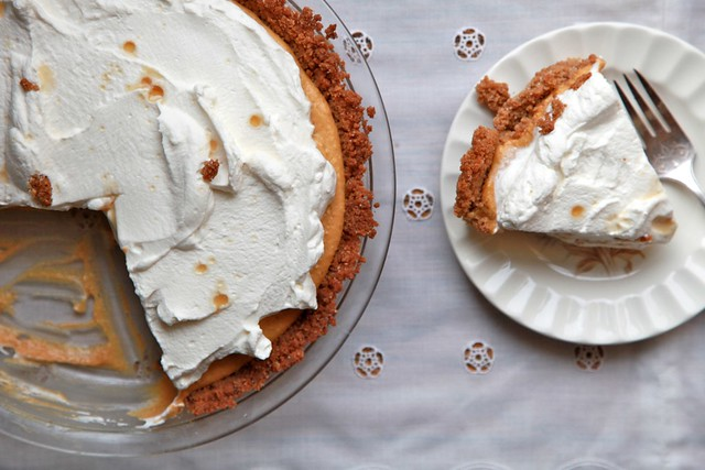 Almost No-Bake Pumpkin Cream Pie with Maple Whipped Cream