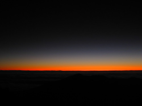 the beginning of the Haleakala sunrise