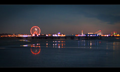 Blackpool pier memories, (#2 of 4), Explored! (Ianmoran1970) Tags: blue sky colour wet water reflections lights sand illuminations dreamy blackpool centralpier showme explored ianmoran ianmoran1970