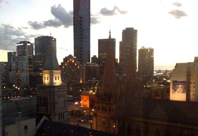 Sunset over Melbourne (1/2)