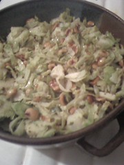 Spicy Sauteed Brussels Sprouts w/ Hazelnuts. why yes I did make the caserole.