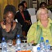 Prof Abena Busia and Chris Grumm (CEO, Women's Funding Network)