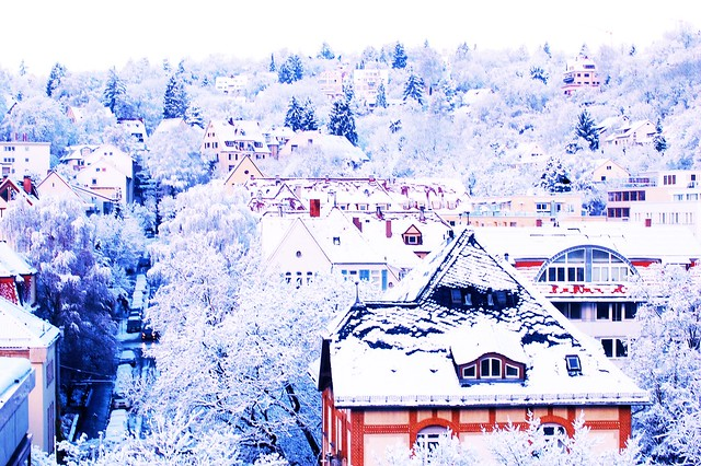 Tuebingen after the snowfall