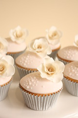 Soft pink and cream vintage rose cupcakes (Cake Ink. (Janelle)) Tags: birthday pink wedding rose vintage cupcakes cream